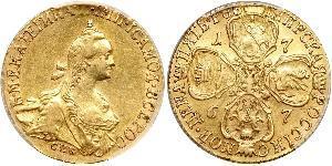 5 Ruble Russian Empire (1720-1917) Gold Catherine II (1729-1796)