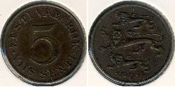 5 Sent Estonia (1991 - ) Bronze