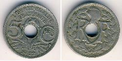 5 Sent France Copper/Nickel