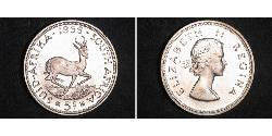 5 Shilling South Africa 銀 伊丽莎白二世 (1926-)