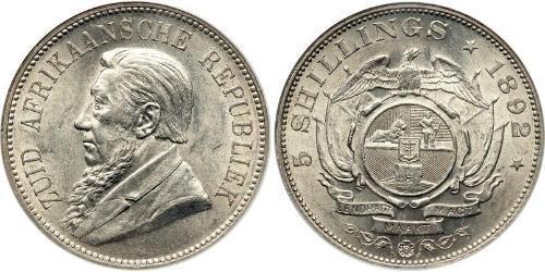 5 Shilling South Africa 銀 保罗·克留格尔 (1825 - 1904)