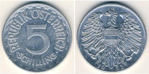 5 Shilling Besetztes Nachkriegsösterreich Aluminium