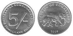 5 Shilling Somaliland Aluminium