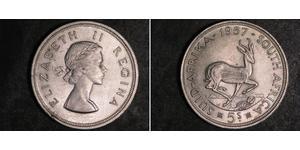 5 Shilling Afrique du Sud Argent Elizabeth II (1926-)