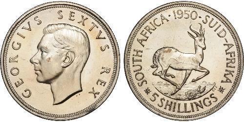 5 Shilling Sudafrica Argento Giorgio VI (1895-1952)