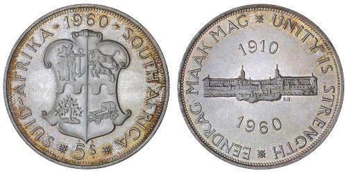 5 Shilling Sudafrica Argento