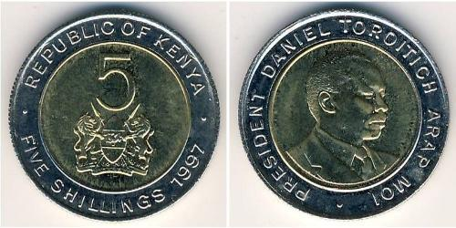 5 Shilling Kenya Bimetal