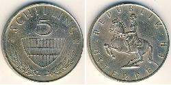 5 Shilling Republic of Austria (1955 - ) Copper/Nickel
