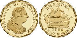 5 Shilling Bermuda Gold George III (1738-1820)