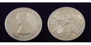 5 Shilling Reino Unido (1922-) Níquel/Cobre Isabel II (1926-)