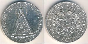 5 Shilling Federal State of Austria (1934-1938) Plata