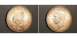5 Shilling Sudáfrica Plata Jorge VI (1895-1952)