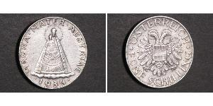5 Shilling Federal State of Austria (1934-1938) Silber