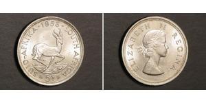 5 Shilling Südafrika Silber Elizabeth II (1926-)