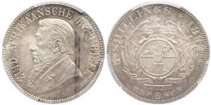5 Shilling South Africa Silver Paul Kruger (1825 - 1904)