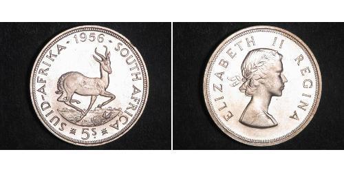 5 Shilling South Africa Silver Elizabeth II (1926-)
