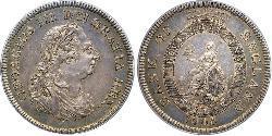 5 Shilling / 1 Dollar Britisches Weltreich (1497 - 1949) / Vereinigtes Königreich von Großbritannien und Irland (1801-1922) Silber Georg III (1738-1820)
