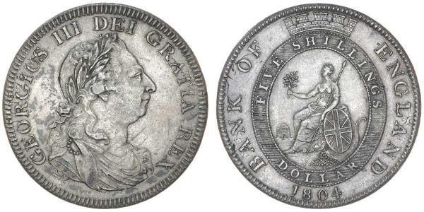 5 Shilling / 1 Dollar British Empire (1497 - 1949) / United Kingdom of Great Britain and Ireland (1801-1922) Silver George III (1738-1820)
