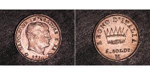 5 Soldo Kingdom of Italy (Napoleonic) (1805–1814) Silver Napoleon (1769 - 1821)