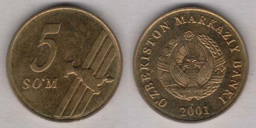 5 Som Uzbekistan (1991 - )