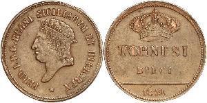 5 Tornesi Italian city-states Copper