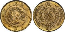 5 Yen Imperio del Japón (1868-1947) Oro Meiji the Great (1852 - 1912)