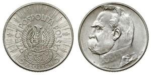 5 Zloty 波兰第二共和国 (1918 - 1939) 銀 约瑟夫·毕苏斯基
