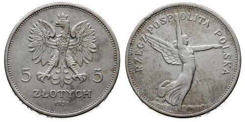 5 Zloty Deuxième République de Pologne (1918 - 1939) Argent
