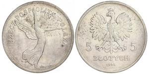 5 Zloty Seconda Repubblica Polacca (1918 - 1939) Argento