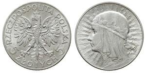 5 Zloty Seconda Repubblica Polacca (1918 - 1939) Argento Giovanni III di Polonia (1629-1696)