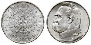 5 Zloty Seconda Repubblica Polacca (1918 - 1939) Argento Józef Piłsudski