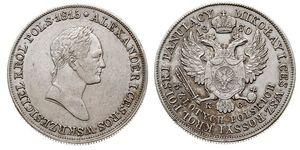 5 Zloty Imperio ruso (1720-1917) Plata Alejandro I (1777-1825)