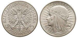 5 Zloty Segunda República Polaca (1918 - 1939) Plata Juan III Sobieski (1629-1696)