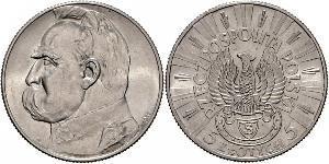 5 Zloty Segunda República Polaca (1918 - 1939) Plata Józef Piłsudski