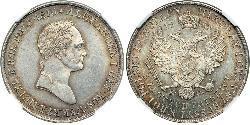 5 Zloty Russisches Reich (1720-1917) Silber Alexander I (1777-1825)