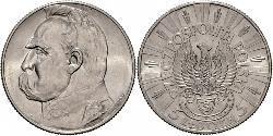5 Zloty Zweite Polnische Republik (1918 - 1939) Silber Józef Piłsudski