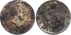 5 Zloty Kingdom of Poland (1815-1915) Silver Alexander I of Russia (1777-1825)