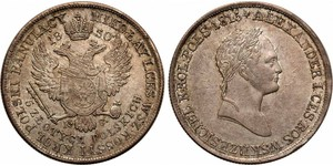 5 Zloty Russian Empire (1720-1917) Silver Alexander I of Russia (1777-1825)