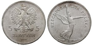 5 Zloty Second Polish Republic (1918 - 1939) Silver