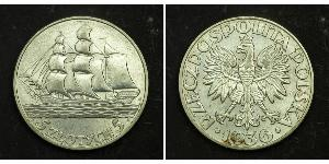 5 Zloty Second Polish Republic (1918 - 1939) Silver