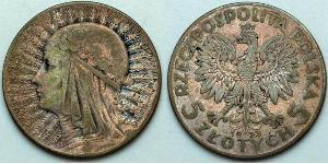 5 Zloty Second Polish Republic (1918 - 1939) Silver John III Sobieski (1629-1696)