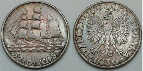 5 Zloty Second Polish Republic (1918 - 1939)