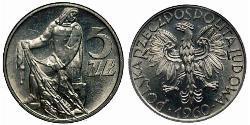 5 Zloty Volksrepublik Polen (1952-1990)
