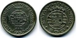 60 Centavo Portuguese India (1510-1961) Copper/Nickel