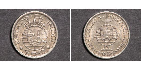 60 Centavo Portuguese India (1510-1961) Copper/Nickel