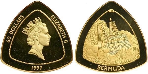 60 Dólar Bermudas Oro Isabel II (1926-)