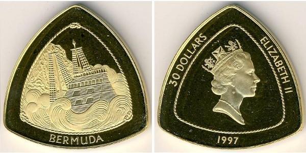 60 Dollar 百慕大 金 伊丽莎白二世 (1926-)