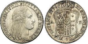 60 Grana Italian city-states Argento Ferdinand I of the Two Sicilies (1751 - 1825)
