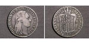 60 Grana Italian city-states Silber Ferdinand I of the Two Sicilies (1751 - 1825)