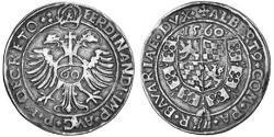 60 Kreuzer Duchy of Bavaria (907 - 1623) Silver Albert V, Duke of Bavaria (1528 – 1579)